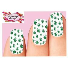 2 X 10 Cm cannabis pegatina de vinilo calcomanía Leaf Laptop médica hierba marihuana # 6267