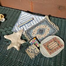 Dollhouse miniature lot of 8 rugs