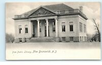 *Free Public Library New Brunswick NJ New Jersey Old Vintage Postcard B65