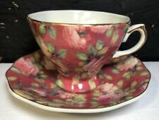 Tea Cup Saucer Set By A Special Place 2004 Rose Pattern Design EUC