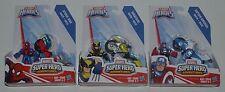 Marvel Playskool Heroes RACERS Set Spider-Man, Wolverine & Captain America MIP