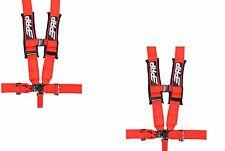 "PRP 5 Point Harness Pair 3"" Pads Seat Belt PAIR RED Polaris RZR XP Turbo 1000"