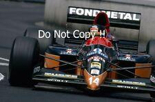 Olivier Grouillard Fondmetal Fomet FA1M-E90 USA Grand Prix 1991 Photograph