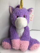 """Fiesta Unicorn Stuffed Animal Purple Pink Soft Plush Fuzzy 20"""" Long"""