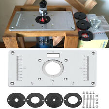 For Woodworking Benches Aluminum Router Table Insert Plat 00004000 e w/ 4 Rings Screws Usa