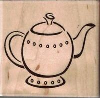 Stampabilities Teapot 02 F1179 Mounted Rubber Stamp