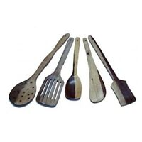 Antique wooden  kitchen cooking spoon bamboo set