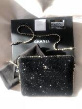 NIB Chanel Rare Limited Chain Flap Lid Tweed Box Tech Clutch Case $3000