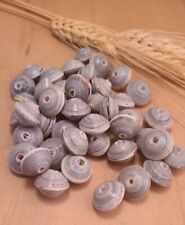Handmade Paper Beads Bicone Multicolored Glazed Recycled 46ct (Cc)