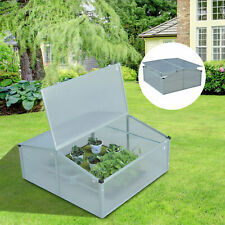 Outdoor 2 Level Adjustable Roof Cold Frame Greenhouse Aluminium Frame