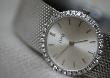 PIAGET 18K WHITE GOLD DIAMOND WATCH