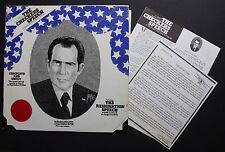 President Richard Nixon Private Label Spoken Word LP Checkers Speech