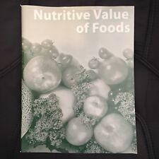 Nutritive Value of Foods Paperback 2013