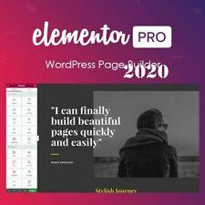 Elementor PRO ~ LASTEST VERSION ~ Plugin WordPress Page Builder 2020