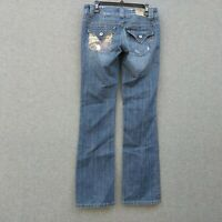 Miss Me Low Rise BootCut Womens Jeans Size 29 L34 Stretch Distressed