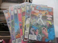 COPS C.O.P.S. n Crooks DC Comics lot of 7 books Hasbro
