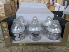 6x Tommee Tippee Closer to Nature Bottles 150ml / 260ml / 340ml Feeding Bottles