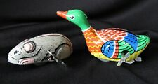 New listing Vintage Japan Tin Wind Up Toy Mouse & Duck