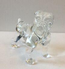 Glass English Bulldog Figurine