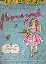 Vintage Uncut 1957 Flower Girls Paper Dolls~#1 Reproduction~Adorable/Rar e