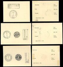 POLAND WW2 FPO + REGISTRATION 1946 SPECIMEN POSTMARKS on CARDS FPO 122 142 140