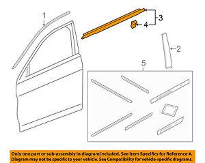 HONDA OEM Accord-Door Window Sweep-Belt Molding Weatherstrip Left 72450T2FA01