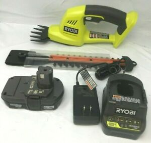 RYOBI P2910 18V Cordless Shear Shrubber Trimmer KIT LN