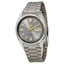 Seiko 5 Automatic Grey Dial Stainless Steel Men's Watch SNXS75