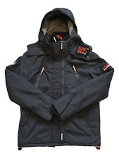 BNWT Superdry Men's Wind Yachter Waterproof Coat Dark Navy/Rebel Red Size L