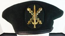 MILITARY BERET - SPAIN F.A.R. FAST REACTION FORCE BLACK