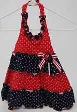 Sophia Rose Blue & Red with White Stars Halter Dress Size 24 months NWT