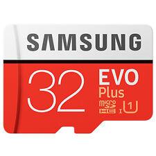 Samsung EVO+ 32GB microSDHC Card 2017 mit Adapter NEU