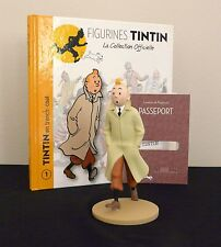 """LARGE 5"""" TINTIN FIGURINE """"OFFICIAL COLLECTION"""" #M01 TINTIN EN TRENCH-COAT"""