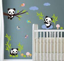 Panda Bären Wandtattoo Wandaufkleber Sticker Deko Folie Baby Kinder Kinderzimmer