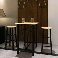 vidaXL Dining Table Set 2 Chairs Breakfast Bar Dinner Table Stools Furniture