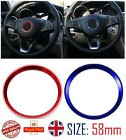 For Mercedes Benz  Blue  Aluminum Steering Wheel Trim Ring 58mm