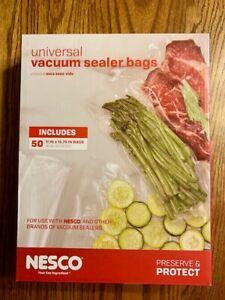 "NESCO (50 ct) 11"" x 15.75"" Vacuum Sealer Bags VS-06B NIP"
