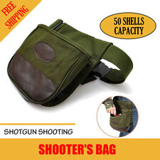 Shooting Hunter Shooter's Bag Shotgun Shell Belt Double Canvas Ammo Holder Pouch