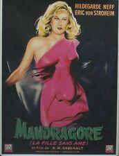 """""""MANDRAGORE (ALRAUNE)"""" Affiche orig. entoilée Hildegarde NEFF, Eric VON STROHEIM"""