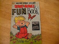 Dennis The Menace Fun Book #1 (F+ 6.5) 1960-25 Cent Giant-Mazes-Puzzls Nevr Wrkd