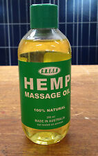 Hemp Massage oil 200ml GREEN Hemp Massage Oil Made in Australia