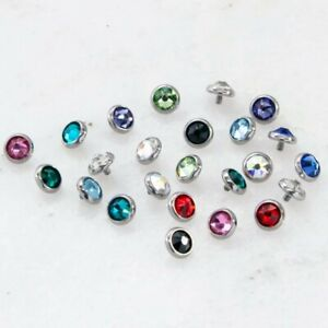 TITANIUM INTERNALLY THREADED GEM REPLACEMENT DISC Various Colors and Sized