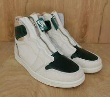 New Womens Nike Air Jordan 1 Retro High Zip Shoe Size 7 White/Green AQ3742-003