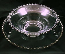 Vintage Imperial Glass Candlewick Glass Bowl & 12 Inch Cupped Edge Underplate