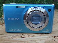 Sony Cyber-shot DSC-W220 12.1 MP Digital Camera - Blue FOR PARTS REPAIR AS IS