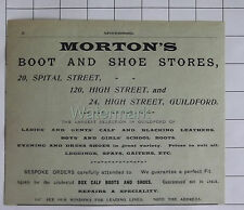 Guildford Surrey Mortons Boot & Shoe Stores Vintage Advert Clipping