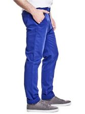 Guess Men's Caprice Woven Pants In Ultra Blue Stretch Pants Ultra Soft Size 38