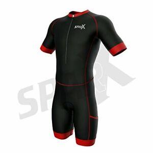 Sparx Men's Competitor Triathlon Race Suit Short Sleeve Aero Tri Suit Skinsuit