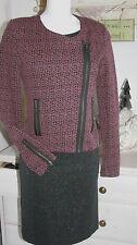 Cream DK Strickblazer Jacke Asymmetrisch Winter Purple Size: M Neu