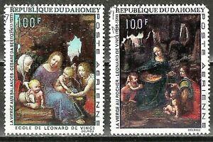 DAHOMEY - 1969 LEONARD DE VINCI PAINTINGS SET - 2 Jumbo Stamps #C95-C96 WYSIWYG